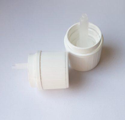 Műanyag kupak – cseppentőbetétes (18 mm)