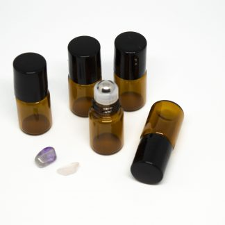 2 ml roll-on barna folyadéküveg 5db-os csomagban